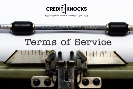 Credit Knocks Terms of Service