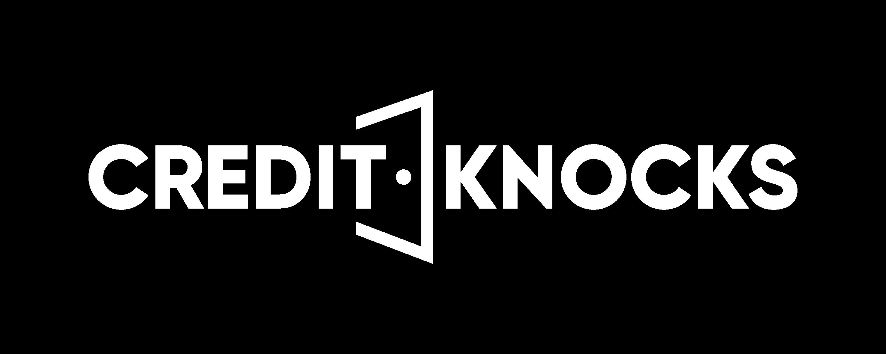Credit Knocks white logo png