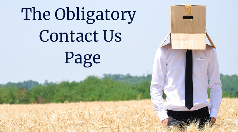 The Obligatory Contact Us Page