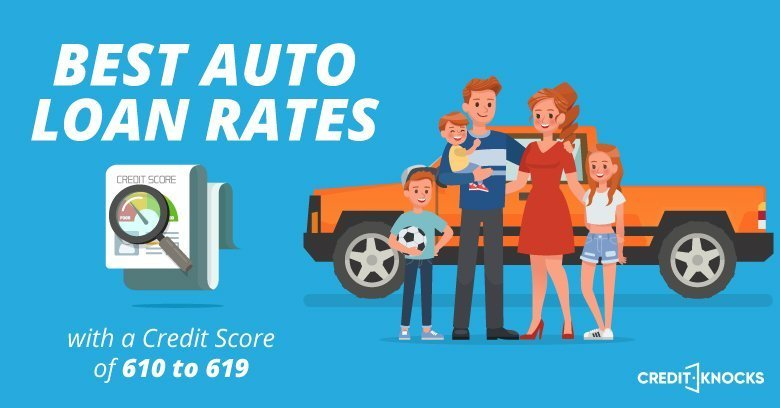 Best Loan Rates >> Best Auto Loan Rates With A Credit Score Of 610 To 619