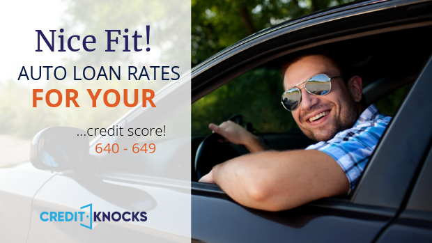 640 Credit Score Car Loan >> Best Auto Loan Rates With A Credit Score Of 640 To 649