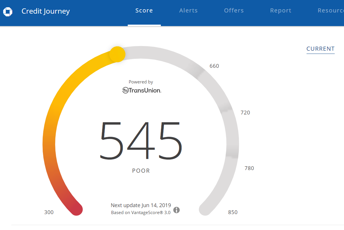 720 Credit Score >> Caution Chase Credit Journey Free Credit Score May Be