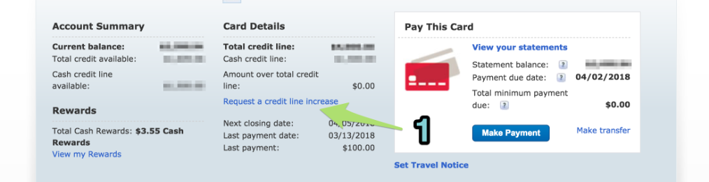 credit limit increase request