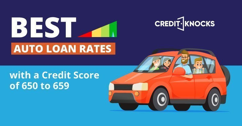 Auto Loans Best Rates with a  Credit Score 650 651 652 653 654 655 656 657 658 659