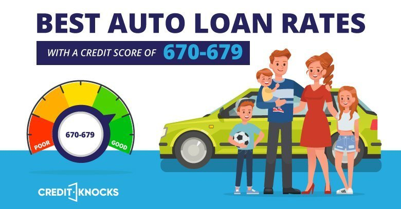 675 Credit Score >> Best Auto Loan Rates With A Credit Score Of 670 To 679