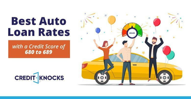 Best interest rates for car Loans new used refinance with a Credit Score 680 681 682 683 684 685 686 687 688 689