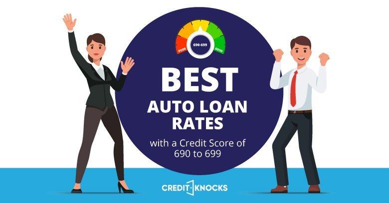 best interest rates for Auto Loans Credit Score 690 691 692 693 694 695 696 697 698 699