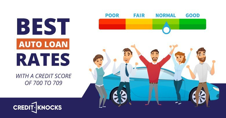 Best Interest Rates Auto Loans Credit Score 700 701 702 703 704 705 706 707 708 709