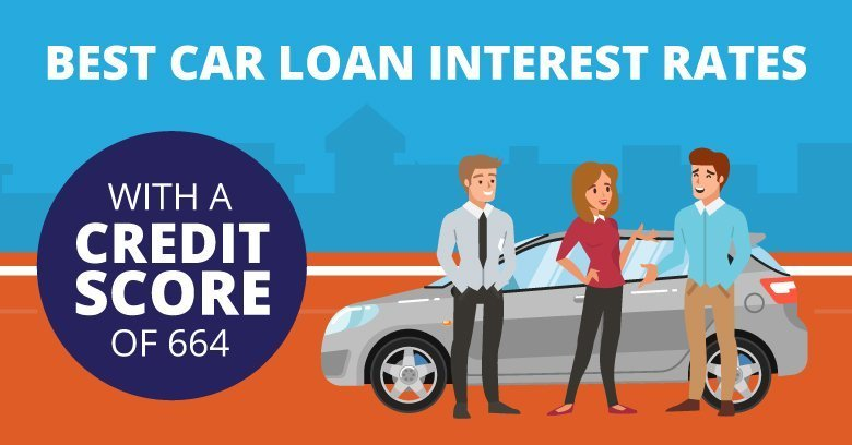 Best Car Loan Interest Rates With A Credit Score of 664