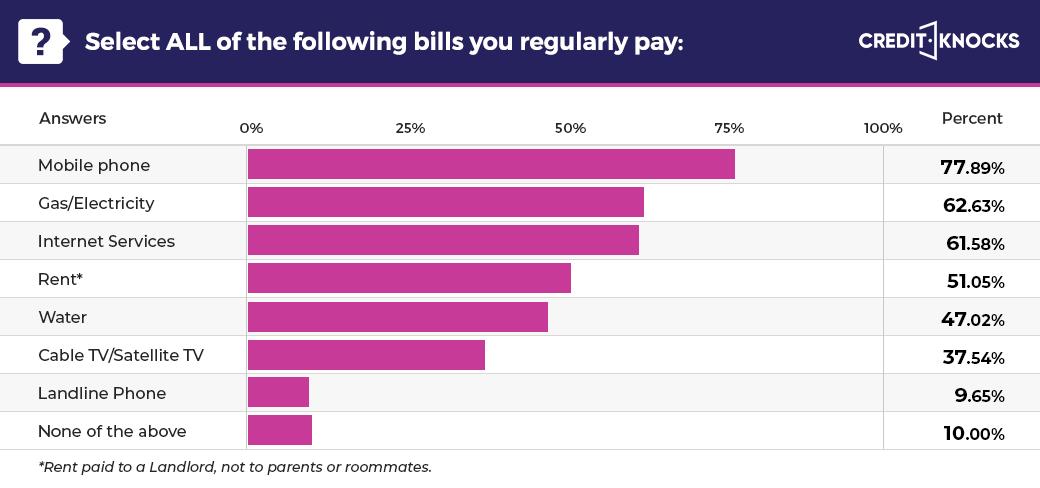 American popular utility bill statistics (USA)