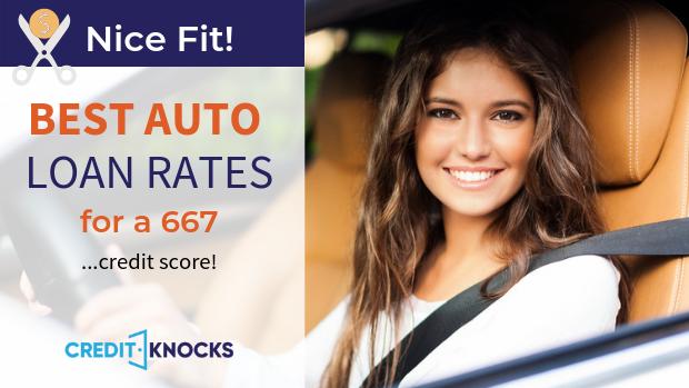 667 credit score best vehicle auto car truck loan rates