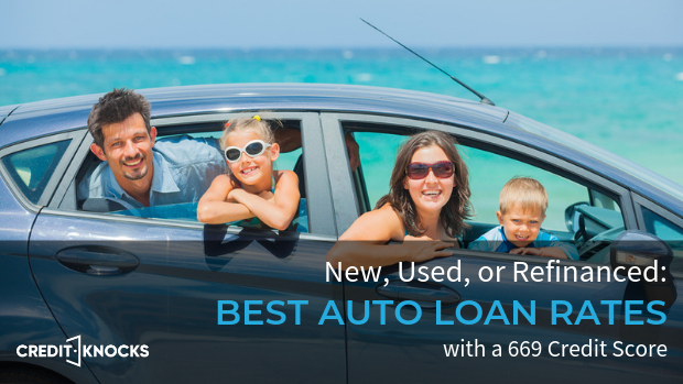 669 credit score best interest rates for new used refinanced car loan financing