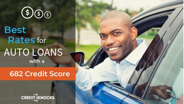 682 credit score top auto loans bank credit union online lenders