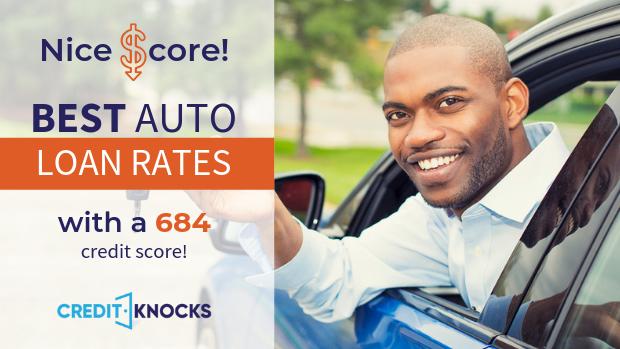 684 credit score Best Interest rates new used refinance car loan