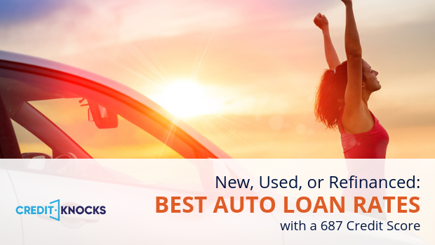687 credit score best rates car loans bank credit union online new used refinance auto vehicle truck rv loans