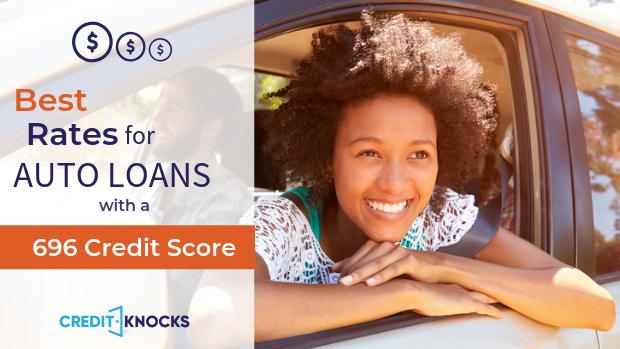 696 credit score Best Interest rates new used refinance car loan