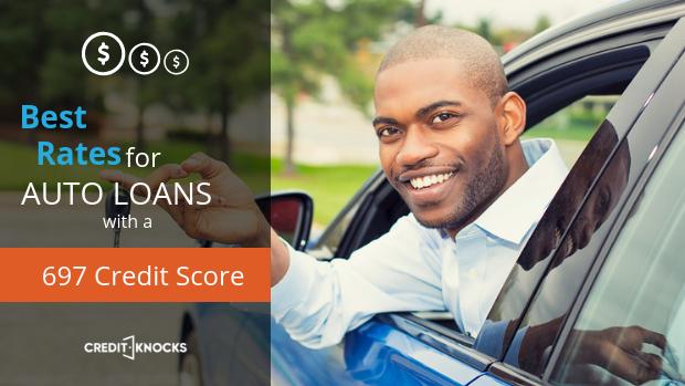 697 credit score Best Interest rates new used refinance car loan