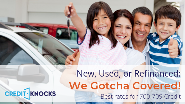 New, Used, and Refinanced Auto Loan Rates for 700 701 702 703 704 705 706 707 708 709 Credit Score
