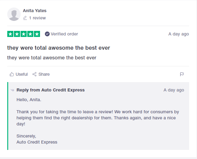 auto credit express customer review