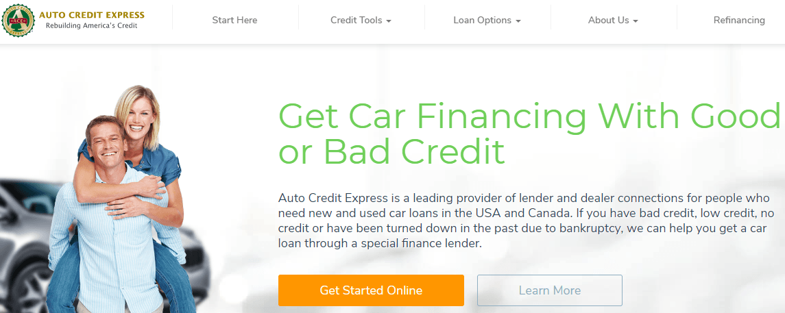 auto credit express home page
