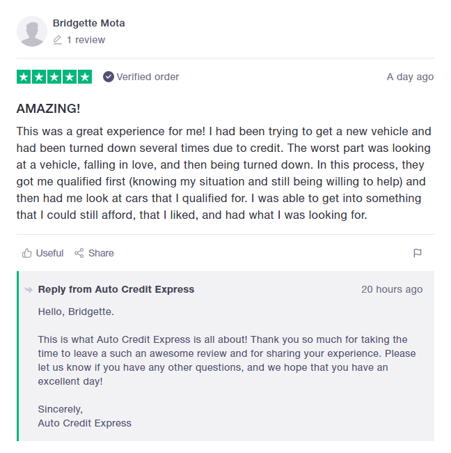 auto credit express review