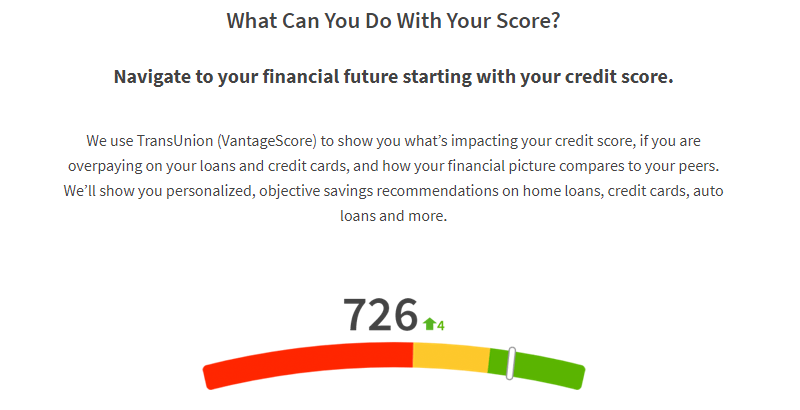 credit sesame vantage score