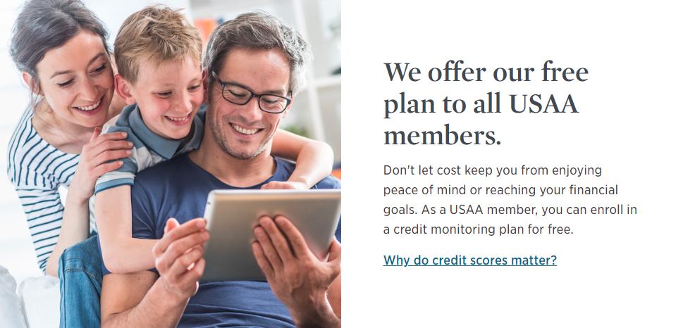 usaa credit score members
