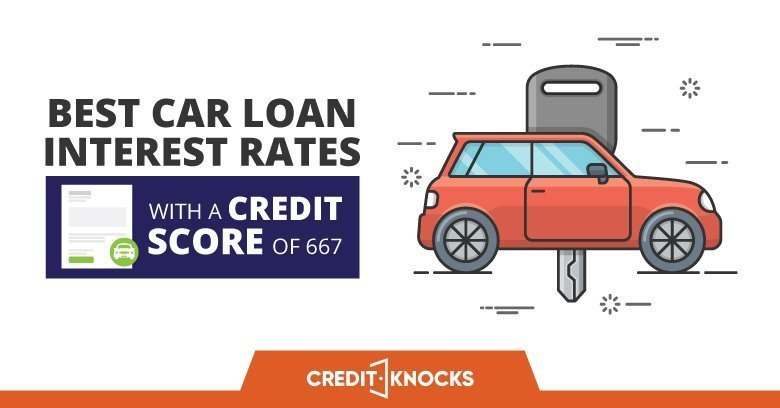 Best Car Loan Interest Rates With A Credit Score of 667